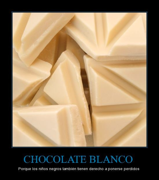 chocolate blanco negros