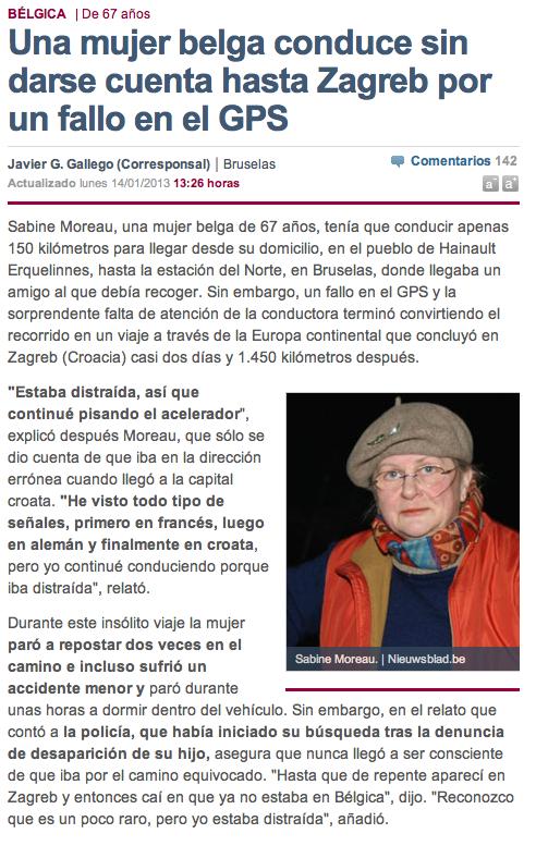 mujer belga 1500 km