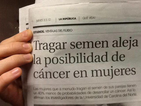 tragar semen cancer noticia