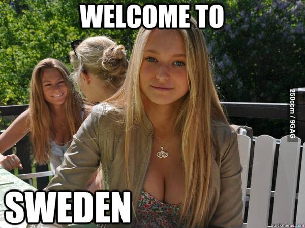 bienvenido a suecia
