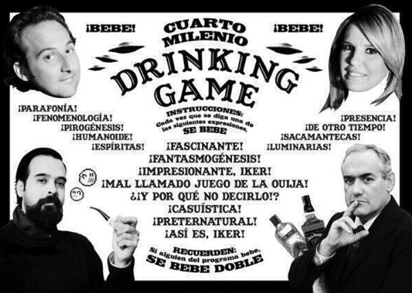 El juego de beber de Cuarto Milenio | Yonki Blog
